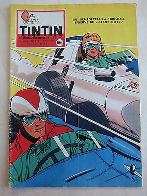 JOURNAL TINTIN n° 512  LE TOUR DE FRANCE ( 4p ) COUVERTURE GRATON  ( PLOM/ARS )