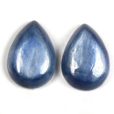 Royal 14x10 mm Blue KYANITE Pear Cabochon Gemstone 13 Cts For Jewellery S-50215