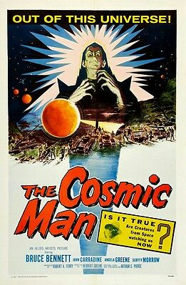 Cosmic Man Classic Film Poster Print horror VINTAGE style RETRO reproduction A4