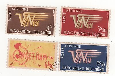 1952 VIETNAM I/S - AIR ISSUE - FULL SET x 4 postage stamps SG#74-77  used