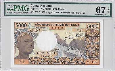 Congo Republic, ND(1978) 5,000 Francs P4c PMG 67 EPQ
