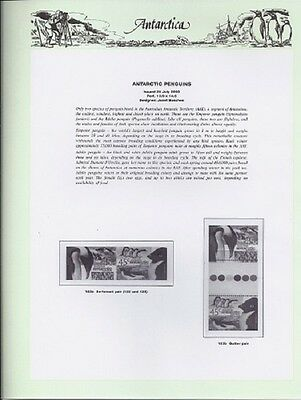 NEW - 2000 Seven Seas Antarctic Hingeless Pages