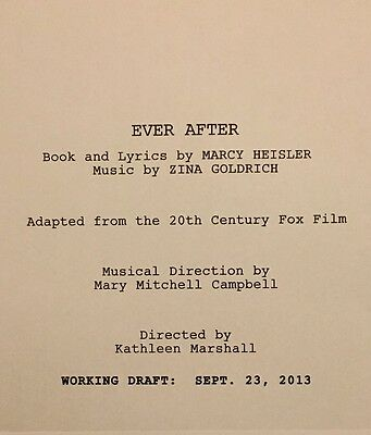 EVER AFTER - Play Script for Pre-B'way Musical by Heisler/Goldrich; Unbound Copy