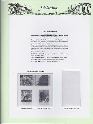 NEW - 2003 Seven Seas Antarctic Hingeless Pages