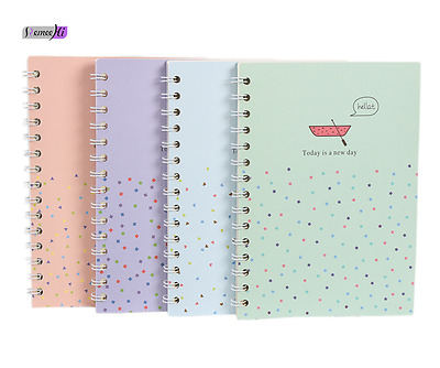 kawaii Book Notebook Student School Supplies Sweety Daily 4 Colors Eye protectio
