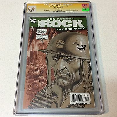 Sgt. Rock: The Prophecy #1 CGC 9.9!! SS Signed By Joe Kubert!! Mint SS!! Rare!