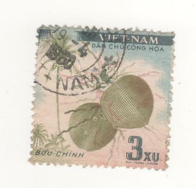 1959 North VIETNAM 3x. face value FRUITS postage stamp SG#N117  USED