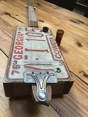 Cigarbox Guitar/licence plate style guitar