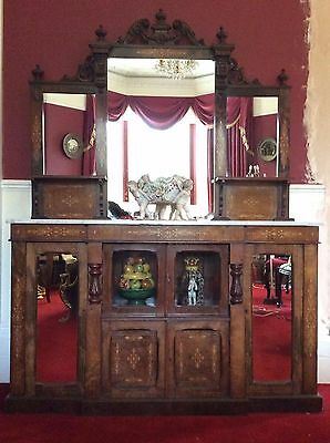 Beautiful Burr Walnut Victorian Inlaid Chiffonier