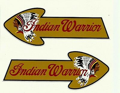 """2 X """"INDIAN MOTORCYCLE FUEL TANK"""" Vinyl Decal Sticker CHIEF CAFE RACER SCOUT"""