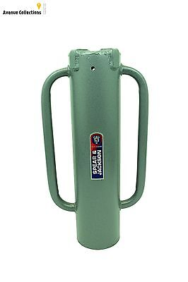 Metal Fencing Post And Landscaping Hole Rammer Strong Tubular Steel Body New