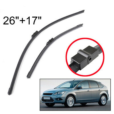 26''&17'' Windscreen Front Window Wiper Blades Fit For 2004-2011 Ford Focus MK2