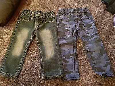 2 x boys Pumpkin Patch pants (jeans and cargos)