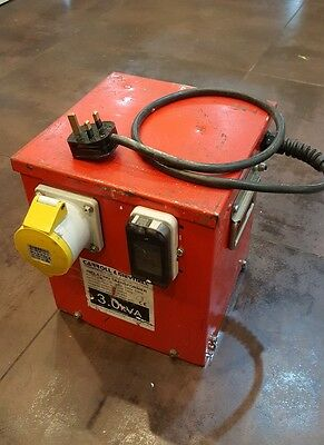 3.0Kva 110v site transformer, with 1 x 32amp outlet