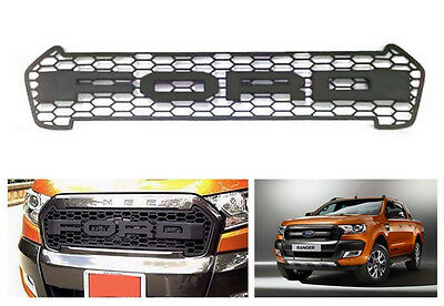 Matte Black Raptor Style Grille Guard billet grill For Ford Ranger PX2 MK2 2016+