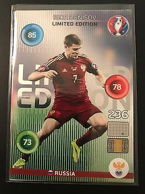 Panini Adrenalyn XL Euro 2016 Igor Denisov (Russland/Russia) Limited Edition RAR