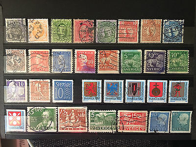 Old Swedish stamps