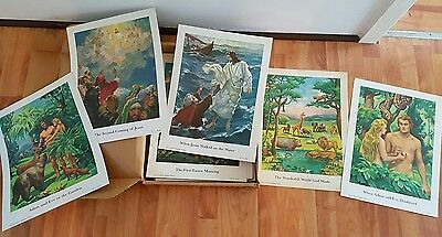 Life in Christ Teaching Pictures/Posters x 136. Religious. Collectable. Rare.