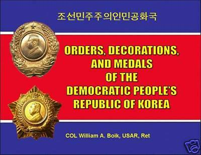 NEW ALL COLOR BK NORTH KOREA [DPRK] ORDERS MEDALS Order Medal