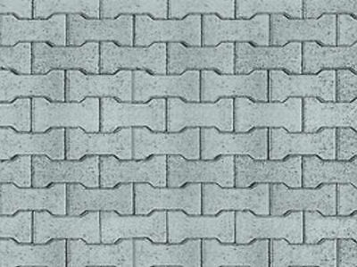 200 X 270 X 1Mm G Brick Tile Patio Walkway Treated Bumpy Paper Sheets 3D Look