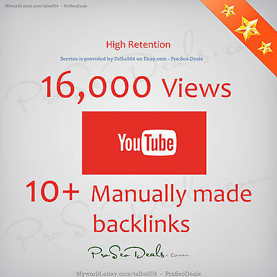 16k YouTube//Views - High Quality - 16000 - 100% Genuine Permanent Guaranteed