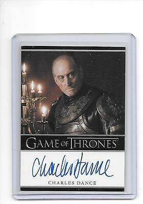 Game of Thrones Season 1 Charles Dance as Tywin Lannister Bordered Auto