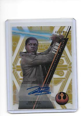 2016 Star Wars High Tek John Boyega as Finn Gold Rainbow Auto Autograph 42/50