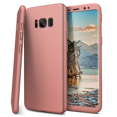 For Samsung Galaxy S5 S6 S7 S8 Plus 360° Shockproof Full Cover Hybrid Hard Case