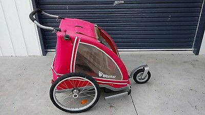 WEEHOO Bike trailer jogger compact foldable for children cargo or pets