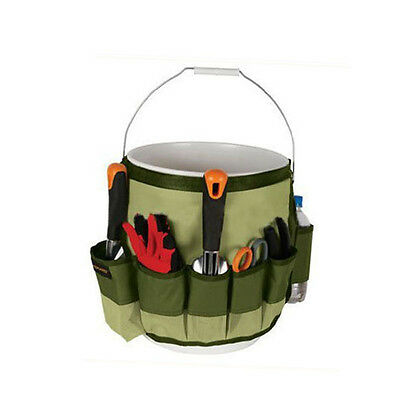 Garden Tool Bag Hanging Tie Multi-Pockets Kits Carrier Army Green