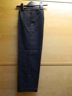 1 Pair of Brand New Charcoal School Trousers - Age 8 - Sainsburys - Elasticated