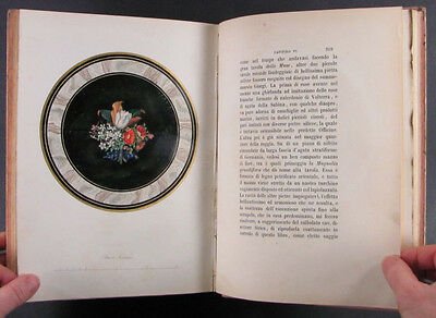 1853 book on Gemstone Inlay - Pietre Dure  - Large Paper Edition -2 Color Plates