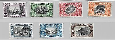 St Helena 1934 Centenary Of Colonisation Part Set To 1/- Mm Ref 1559