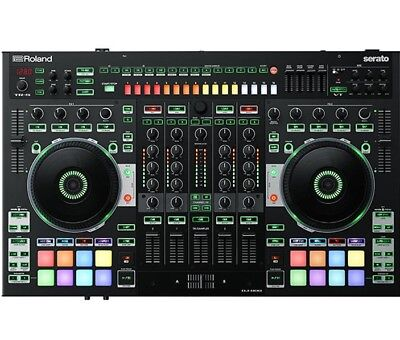 Roland DJ-808 4-Channel Serato DJ Controller w/ Built-In Step Sequencer Sampler