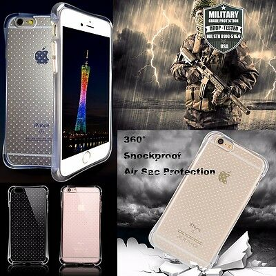 Air Sac Shockproof Crystal Clear TPU A+ i5/5S Phone Protector Case Back Cover