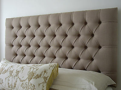 Bed Head King Size Diamond Pleated Buttoned Upholstered Bedhead / Headboard