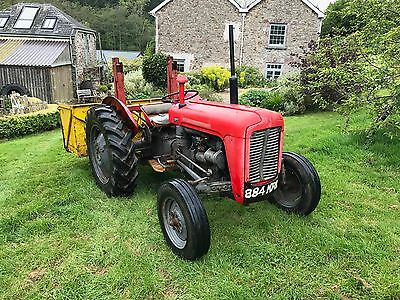 Massey Ferguson 35 tractor with link box. 3 cylinder model. Good condition.