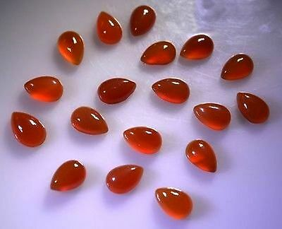 15 Pieces Lot Red Onyx 6X9 Mm Pear Loose Gemstone Calibrated Cabochon