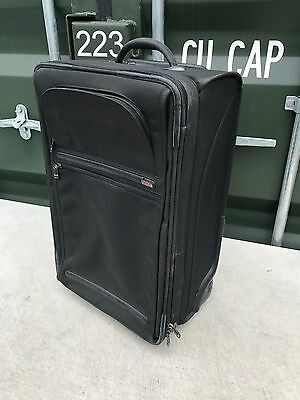 Tumi 60cm - Black 2 Wheel Canvas Hard Cabin Hand Luggage Suitcase