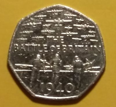 50p coin 2015 Battle of Britain - 5th Portrait