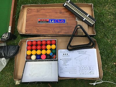 BCE 4 Foot Folding Snooker Table & Complete Cues Ball Set Instructions 4'
