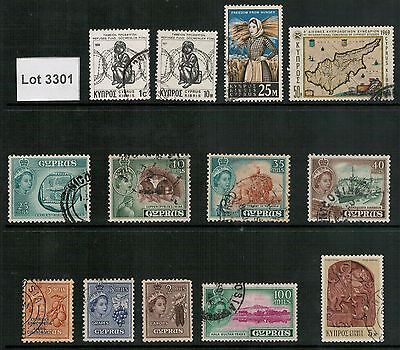 Lot 3301 - Cyprus – used stamp selection (13)