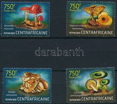 Central African Republic stamp Mushroom set MNH 2013 Mi 4375-4378 WS227161