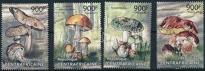 Central African Republic stamp Mushroom set MNH 2013 Mi 4181-4184 WS227743