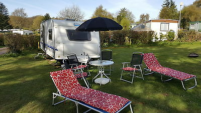 Cheap 4 Berth Touring Caravan Fixed single beds Awning Hobby Shower