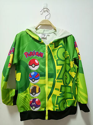 Pokemon Jacket official licence with Hood for kids Size S