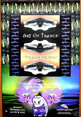 PLATIPUS RECORDS Wildlife on one ART OF TRANCE Psychedelic Goa Poster 1996