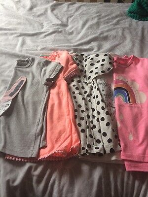 5 Summer Girls T Shirts Age 3-4 Next And TU