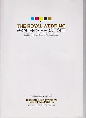 The Royal Wedding Printer's Proof Set Book 138/950 Hrh Prince William 2011