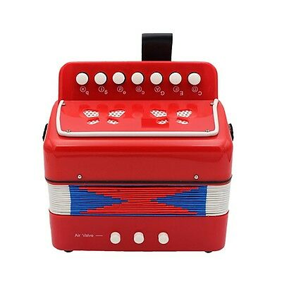 Children Kid Button Accordion 17 Key Piano Accordion Educational Musical Toy RED